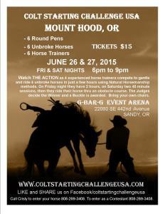 Mt. Hood Colt Starting flyer 2015